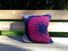Pillow cover made from Marimekko fabric, pillow case sham, throw pillow cover,  purple Scandinavian cushion
