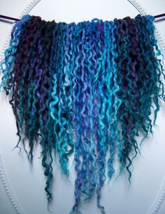 78DE Mermaid Locs Icelandic Wool Dreads Blue by NVCL3ARBVTT3RFLY