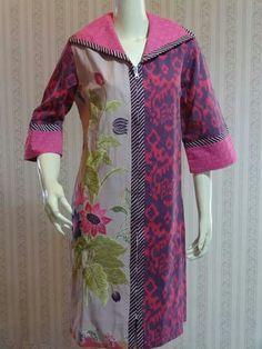 Sfvjj Batik Blazer, Blouse Batik, Batik Dress, Ghanaian Fashion, African Fashion Dresses, African Dress, Batik Fashion, Hijab Fashion, Batik Muslim