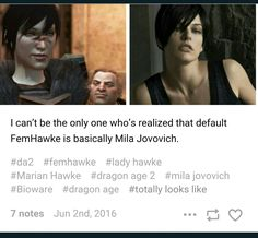 I need Snarky F!Hawke in my life.