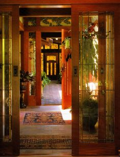 Theodore Ellison Designs - Leaded Glass Doors in Newport Beach, California Arts And Crafts Interiors, Arts And Crafts Furniture, Arts And Crafts House, Arts And Crafts For Teens, Home Crafts, Craftsman Interior, Craftsman Style Homes, Craftsman Bungalows, Craftsman Kitchen