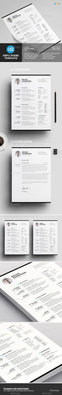 Resume Template PSD, DOC. Download here: https://graphicriver.net/item/resume/17266710?ref=ksioks
