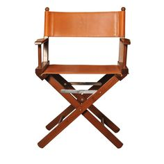 Cognac Leather Director's Chair - Shop Dario Alfonsi online at Artemest