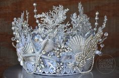 MADE TO ORDER Silver Rhinestone Mermaid Crown - siren - photoshoot - pageant - runway - mermaid costume - fantasy. by ScarletHarlow on Etsy Mermaid Crown, Lace Mermaid, Mermaid Headpiece, Dress Up Costumes, Woman Costumes, Mermaid Costumes, Couple Costumes, Group Costumes, Adult Costumes