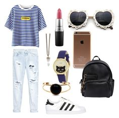 """""""Sunday outfit"""" by mae-druine ❤ liked on Polyvore featuring One Teaspoon, adidas Originals, MAC Cosmetics, Givenchy, Kate Spade, Dsquared2, women's clothing, women's fashion, women and female"""