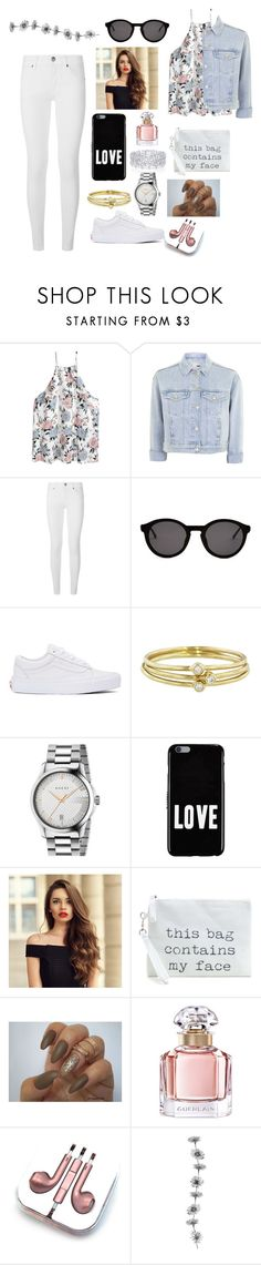 """Untitled #111"" by styleparty ❤ liked on Polyvore featuring Topshop, Burberry, Thierry Lasry, Vans, Jennifer Meyer Jewelry, Gucci, Givenchy, Graff, Guerlain and PhunkeeTree"