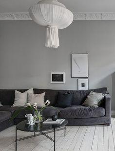 Beautiful grey living space - via Coco Lapine Design