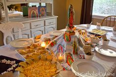 Last night I shared our Celebration in honor of Our Lady of Guadalupe  over at Shower of Roses. I thought I would add it here as well, so...