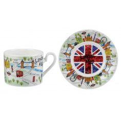 James Sadler London Maps Cup & Saucer Gift box