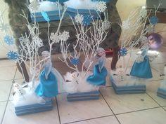 Ayuda centros de mesa Frozen