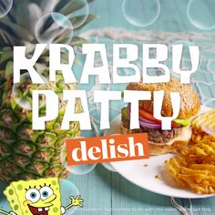 Plankton would kill to get his hands on this copycat krabby patty. The starfish-shaped cheese is an absolute must.