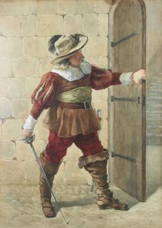 This charming watercolour by William John Wainwright (1855-1931) of a #Musketeer is lot 417 in our Wed 31 January Antique & Fine Art #Auction with an est. of £200-300.  There are pictures in this Auction to suit all tastes and budgets and they are all illustrated on our website