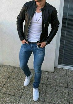 Skinny Jeans For Men - Männer outfit - Kleidung Stylish Mens Outfits, Casual Outfits, Men Casual, Casual Winter, Party Outfits, Casual Jeans, Winter Outfits, Casual Summer, Summer Outfits