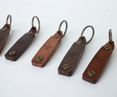 Leather Key rings - Makr Turn Fob
