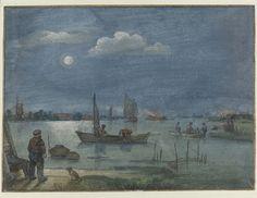 Vissers bij maanlicht, Hendrick Avercamp, 1595 - 1634