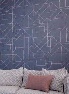 Geometrisches Muster: Tapete Outline Von Hookedonwalls #wohnzimmer #sofaecke
