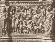 Nicola Pisano, Adoration of the Magi, relief from the pulpit 1265- 1268 Marble, 85 x 97 cm Duomo, Siena