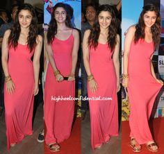 Ms. Bhatt's been busy promoting her movie in multiple cities… While in Delhi, it was a Zara top, distressed denims, boots, palm cuff and a dark lip that she put her appearance in. Back in Bombay, she picked a coral maxi which she paired with Birkenstock'esque metallic sandals. Different as they are are, which of …