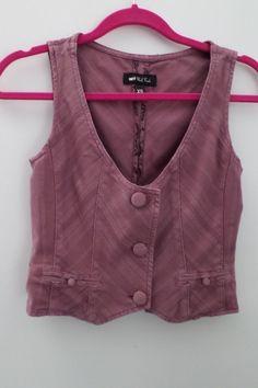 Paul Frank Pink Vest Blouse Size XS #PaulFrank #Blouse