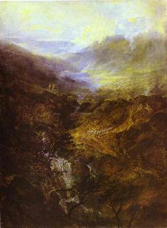 Morning Amongst the Coniston Fells, Cumberland - William Turner, 1798