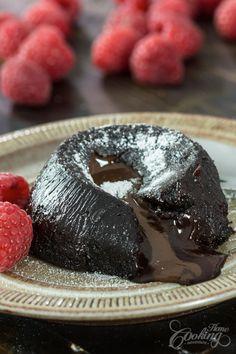 Eggless Chocolate Lava Cake-2