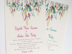 Feather Wedding Invitation Native American Colorful Wedding for Best Native American Wedding Invitations Wedding Tips, Diy Wedding, Wedding Planning, Dream Wedding, Wedding Disney, Wedding Stuff, Wedding Invitation Samples, Country Wedding Invitations, Invites