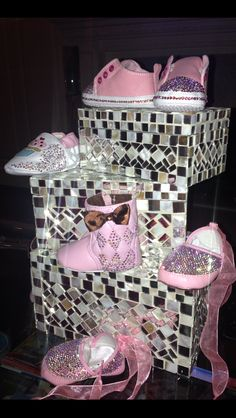 Baby Shoes/  Baby Booties/ Baby Girl Shoes/ Baby Girl Gifts/ Baby Fashion Shoes. $70.00, via Etsy.