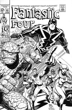 The Fantastic Four & the Inhumans by Art Adams