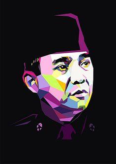Bung Karno First President of Indonesian Republic Page Borders Design, Indonesian Art, Anime Muslim, Pop Art Illustration, Collage Design, Galaxy Wallpaper, Wallpaper Wallpapers, Founding Fathers, Anime Art Girl