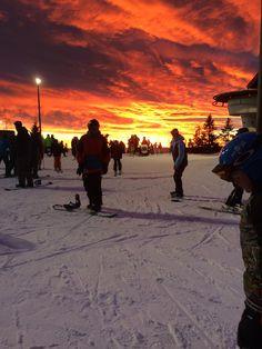 Blazing red sky in Oslo Norway. [3264x2448].
