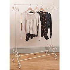 Shabby Chic Cream Clothes Garment Rail Metal Ornate Vintage Style Hanging Stand for sale online Vintage Clothing Styles, Vintage Clothes Rail, Vintage Mode, Style Vintage, Vintage Style Outfits, Vintage Fashion, Vintage Metal, Hat And Coat Stand, Coat Stands
