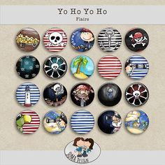SoMa Design: Yo Ho Yo Ho - Flairs Digital Scrapbooking, Kit, Design