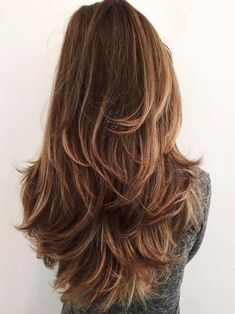 Haircuts For Long Hair With Layers, Long Layered Haircuts, Haircut For Thick Hair, Long Hair Cuts, Layered Hairstyles, Layers On Long Hair, Natural Hairstyles, Long Brown Hairstyles, Long Hair With Highlights