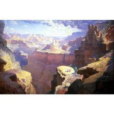 """""""Grand Canyon,"""" William Robinson Leigh, 1911, oil on canvas, 66 x 99"""", Newark Museum."""