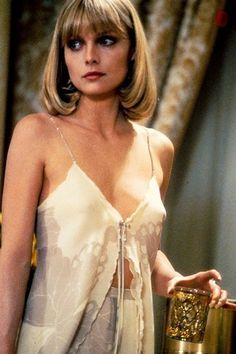 We'll be dressing like Michelle Pfeiffer as Elvira Hancock in Scarface this weekend. Elvira Hancock, Michelle Pfeiffer Scarface, Divas, Actrices Hollywood, Vintage Beauty, Vintage Fashion, Beautiful Actresses, Movie Stars, Fashion Beauty
