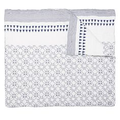 """Alexis Quilt by Allem Studio.  Available in 3 sizes:  Twin - 72"""" x 92"""" Queen - 92"""" x 92"""" King - 110"""" x 92"""""""
