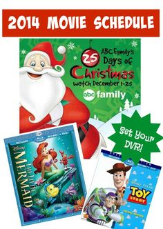Mark your calendars, the 2014 ABC Family 25 Days of Christmas Schedule is out and there are some great movies that will be showing during the month of December.