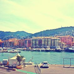 Harbour of Nice, France. Nizza. Port de Nice.