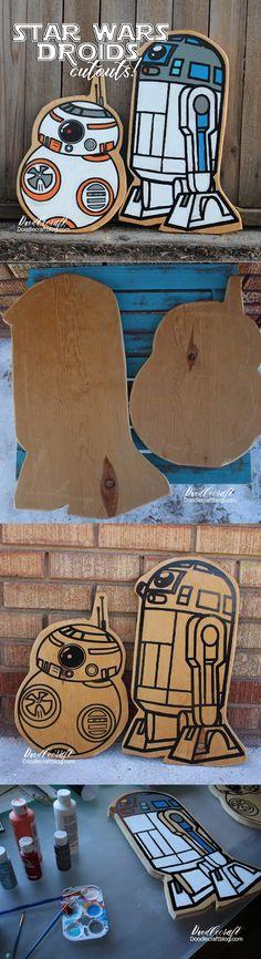 Doodlecraft: Star Wars R2D2 and BB8 Wood Cutouts!