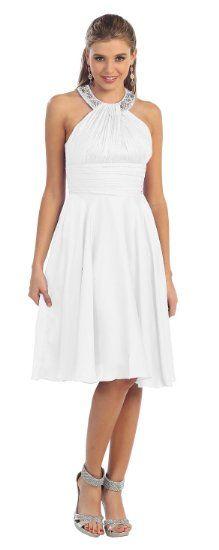 Amazon.com: Prom Halter New Elegant Short Dress #2959: Clothing $99