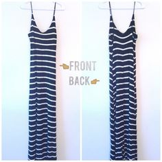 Black + White Maxi Dress. This dress is super cute + perfect for a lazy day when you don't feel like getting dressed! Dress is 100% Rayon & machine washable. There is a small tear by the neckline that came from me taking the tag off  price reflects that; because this dress is in great condition. No fading or stains. Forever 21 Dresses Maxi