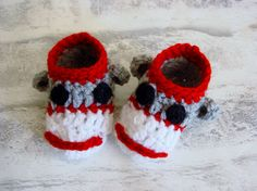 Items similar to Baby shoes, Baby Sock Monkey Slippers, Baby Slippers, Crib Shoes, Booties.Newborn shoes on Etsy Baby Slippers, Baby Socks, Crochet Sock Monkeys, Sock Monkey Baby, Newborn Shoes, Crochet For Boys, Cute Little Baby, Crib Shoes, Crochet Accessories