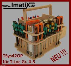 NEUHEIT ImatiX TSys41OP * Werkzeugeinsatz Holzeinsatz f. T-Loc Systainer Gr 4-5