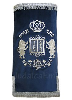 torah mantle | Torah mantles & Torah covers - White Torah covers & High Holidays ...