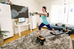 The second in our series: Free Yourself from the Myths of the Perfect At-home Pilates Practice Pilates At Home, Routine, Two By Two, Desk, Inspired, Furniture, Home Decor, Desktop, Decoration Home