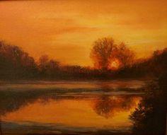 Bayou Sunset by Eva Allen Oil ~ 8 x 10