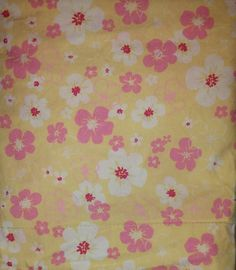 Pottery Barn Kids Hibiscus Floral Yellow Pink 4 pc FULL Sheet Set Pillowcases #PotteryBarnKids