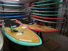 His and hers SUP boards and paddles