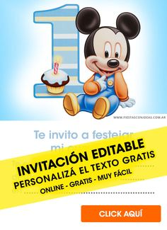 Tarjeta de cumpleaños de Mickey Mouse Fiesta Mickey Mouse, Online Gratis, Projects To Try, Family Guy, Mikey, Free, Angel, Happy Birthday Mickey Mouse, Mickey Mouse Baby Shower