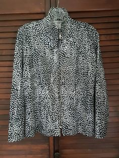 Women's Misook Petite Long Sleeve White Black Shiny Textured Disco Jacket Large | Clothing, Shoes & Accessories, Vintage, Women's Vintage Clothing | eBay!